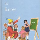 WORDS TO KNOW BY STANDARD EDUCATIONAL CORP 1969 CHILDREN'S HARDBACK BOOK NEAR MINT