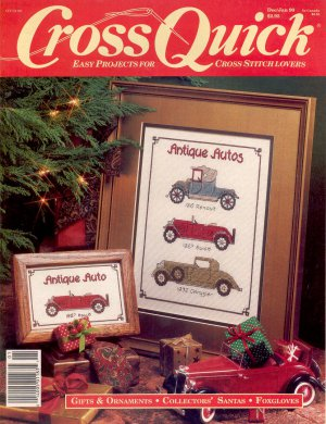BACK ISSUE CRAFTS MAGAZINE: CROSS QUICK CROSS STITCH DECEMBER - JANUARY 1990 NEAR MINT # 2