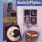 THE NEEDLECRAFT SHOP - GLOW IN THE DARK SWITCH PLATES 1992 PLASTIC CANVAS CRAFT LEAFLET NOS NM