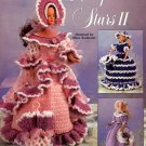 THE NEEDLECRAFT SHOP - HOLLYWOOD STARS II CROCHET DOLL GOWNS 1998 CRAFT BOOKLET NOS DISC MINT