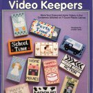 THE NEEDLECRAFT SHOP - VIDEO KEEPERS 1994 PLASTIC CANVAS CRAFT BOOK NEAR MINT