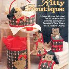 THE NEEDLECRAFT SHOP - HOLIDAY KITTY BOUTIQUE 1993 PLASTIC CANVAS CRAFT BOOK MINT