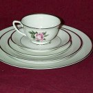 ROYAL JACKSON FINE CHINA MARGARET ROSE 5 pc DINNER PLACE SETTING MINT TO NEAR MINT