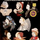 HOT OFF THE PRESS ~ FANCY FACES JEWELRY CRAFT LEAFLET 1990 DISC NOS NEAR MINT