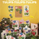 NEEDLECRAFT ALA MODE TULIPS - TULIPS - TULIPS PLASTIC CANVAS CRAFT LEAFLET 1989 NOS NEAR MINT