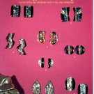 EARRING BOUTIQUE DESIGNS WITH FOIL & RIBBONS JEWELRY CRAFT LEAFLET 1993 MINT