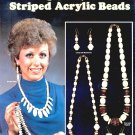 FASHION JEWELRY  IN STRIPED ACRYLIC BEADS CRAFT BOOKLET 1985 MINT