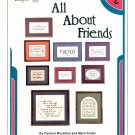 MOTHER & DAUGHTER DESIGNS ALL ABOUT FRIENDS CROSS STITCH CRAFT BOOKLET 1984 NEAR MINT NOS