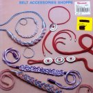 HERITAGE TRIMMING BELT ACCESSORIES SHOPPE NECKLACE & BRACELET CRAFT BOOKLET NEAR MINT