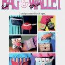 BAG  BELT & WALLET AND WRIST WALLET PLASTIC CANVAS CRAFT BOOKLET 1990 NEAR MINT