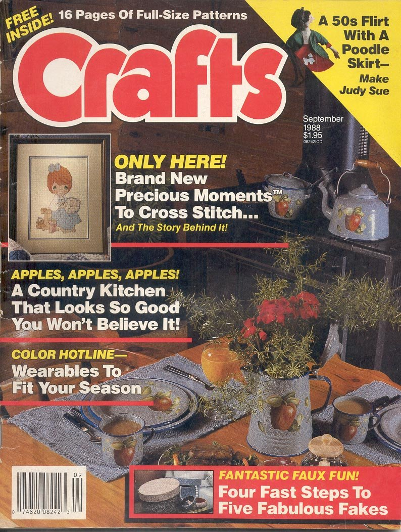 CRAFTS BACK ISSUE MAGAZINE SEPTEMBER 1988 WITH FULL SIZE PATTERNS PULL OUTS VERY GOOD CONDITION