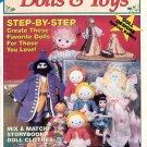 CHRISTMAS DOLLS & TOYS BACK ISSUE SEW & KNIT MAGAZINE 1991 NEAR MINT