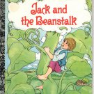 A LITTLE GOLDEN BOOK - JACK AND THE BEANSTALK # 1 CHILDREN'S HB 1992 VERY GOOD