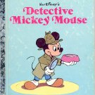 A LITTLE GOLDEN BOOK- DISNEYs DETECTIVE MICKEY MOUSE # 100-58 CHILDRENS HARDBACK BOOK 1985 VGOOD