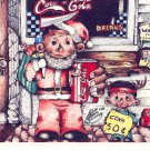 COKE COCA COLA #1 IN SERIES OF 5 - CHRISTMAS COLOR POSTCARD #05 UNUSED 1998 NEAR MINT