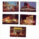 5 EACH MINI RENO NEVADA COLOR POSTCARD #53 UNUSED MINT