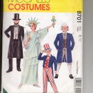 McCALL'S #8701 COSTUMES ADULT LIBERTY ABE LINCOLN GEORGE UNCLE SAM SIZE 8-10 PATTERN UNCUT OOP 1997