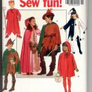 BUTTERICK #5673 CHILDRENS COSTUMES DEVIL JESTER PRINCESS SEW PATTERN UNCUT OUT OF PRINT 1991 NM