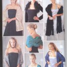 BUTTERICK  #6906 EVENING WRAPS SHAW SEW 6 DIFF STYLES PATTERN UNCUT OUT OF PRINT 2000 NEAR MINT