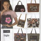 SIMPLICITY  #4435  FASHION TEEN PURSES BAGS TOTES HANDBAG SEWING PATTERN USED 2005 VERY GOOD