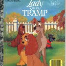 A LITTLE GOLDEN BOOK- DISNEY'S LADY AND THE TRAMP # 3 CHILDRENS HB BOOK 1990 VERY GOOD COND