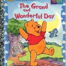 A LITTLE GOLDEN BOOK - POOH THE GRAND & WONDERFUL DAY #2 CHILDREN'S HARDBACK BOOK 1996 VG