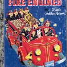 A LITTLE GOLDEN BOOK - FIRE ENGINES CHILDREN&#39;S HB 1959 GOOD COND