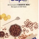 KELLOGG'S CRISPIX CEREAL 20 GREATEST CRISPIX MIX RECIPES 1991