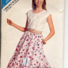 BUTTERICK #6169 SEE & SEW PATTERN - WOMEN'S TOP & SKIRT SIZE A 6-10 UNCUT OUT OF PRINT 1988 VG