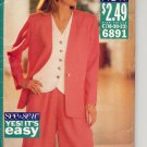 (A) BUTTERICK #6891 SEE & SEW PATTERN-WOMEN'S JACKET TOP & SHORTS C 18-22 UNCUT OUT OF PRINT 1993 VG