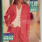 (C) BUTTERICK #6891 SEE & SEW PATTERN-WOMEN'S JACKET TOP & SHORTS C 18-22 UNCUT OUT OF PRINT 1993 OK