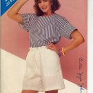 BUTTERICK #5382 SEE & SEW PATTERN - WOMEN'S TOP & SHORTS SIZE A 8-12 CUT/USED OUT OF PRINT 1985 VG