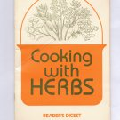 COOKING WITH HERBS BY READER'S DIGEST 1978 BOOKLET NM