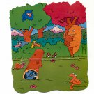 BURGER KING KIDS MEAL TOY GIVEAWAYS FROM 1990 ~ 3-D POP-UP POP-OUT CARDBOARD BACKGROUND #3 MINT