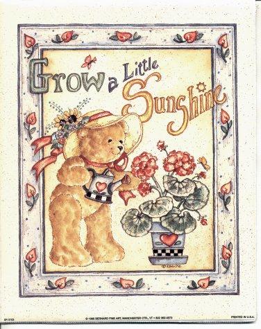 PRINT #12: GROW A LITTLE SUNSHINE 8 X 10 PRINT 1998  MINT