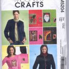 McCALL'S CRAFTS #M5204 DECORATIVE CARDIGANS & PULLOVERS SIZE OSZ UNCUT OOP 2006 VG