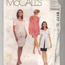 McCALL'S PATTERN #8177 MISSES MOCK DRESS SIZE G 20-24 UNCUT OOP 1996 VG TO NEAR MINT