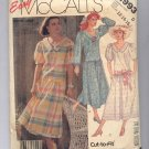 McCALL'S PATTERN #2993 MISSES DRESS & PETTICOAT SIZE D 12-16 UNCUT OOP 1987 VG TO NM