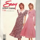 McCALL'S EASY STITCH N SAVE #7756 MISSES DRESS SIZE A 8-14 UNCUT OOP 1995 VG-NM