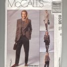 McCALL'S PATTERN JONES NEW YORK #8538 MISSES JACKET VEST PANTS & SKIRT SIZE 10 CUT OOP 1996 VG-NM