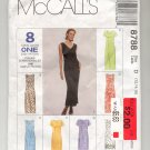 McCALL'S PATTERN #8788 MISSES DRESS SIZE D 12-16 CUT 1997 NO INSTRUCTION PAGE