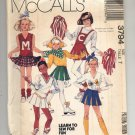 McCALL'S PATTERN #3794 GIRLS CHEERLEADERs OUTFIT SIZE 7 CUT 1988 VINTAGE VGOOD