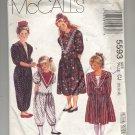 McCALL'S PATTERN #5593 GIRLS DRESS & JUMPSUIT IN TWO LENGTHS SIZE CJ 10-14 CUT 1991