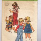 SIMPLICITY PATTERN #6051 TODDLER OVERALLS & JUMPER SIZE 2 CUT 1973 VINTAGE