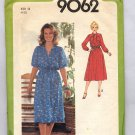 SIMPLICITY PATTERN #9062 MISSES PULLOVER DRESS SIZE 14 CUT 1979 VINTAGE