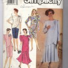SIMPLICITY PATTERN #7060 MISSES 2 PC DRESS IN TWO LENGTHS SIZE N5 10-18 CUT 1990
