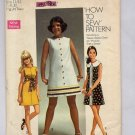 SIMPLICITY PATTERN # 8609 YOUNG JR. TEEN MISS DRESS SIZE 11-12 PARTIALLY CUT 1969 VINTAGE OOP