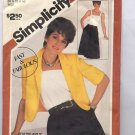SIMPLICITY PATTERN #5836 MISSES DRESS & JACKET SIZE N 10-14 CUT 1982 NO INSTRUCTIONS