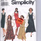 SIMPLICITY PATTERN # 8604 MISSES JUMPER W SLIM/FLARED SKIRT SIZE H 6-10 CUT 1993