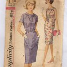 SIMPLICITY PATTERN # 5406 MISSES ONE PIECE DRESS SIZE 10-18 CUT 1964 VINTAGE OOP